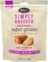 Simply Dressed<sup>?</sup> Aged Parmesan Flavored Super Grains Croutons